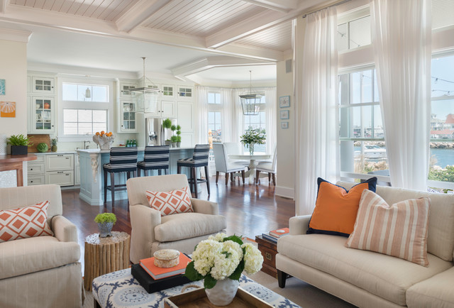 Excellent Coastal Chic Coastal Living Room Providence By Kate Largest Home Design Picture Inspirations Pitcheantrous