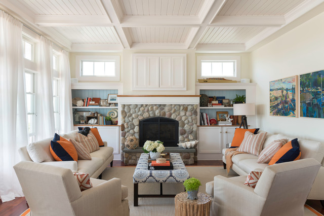 Coastal Chic Beach Style Living Room Providence By