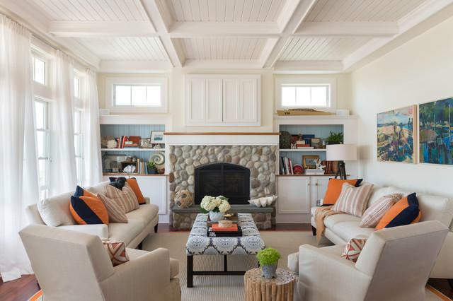 Charmant Coastal Chic Coastal Living Room