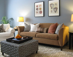 Coastal Color Scheme eclectic living room