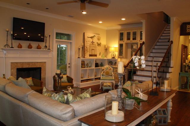 Coastal Cottage eclectic-living-room