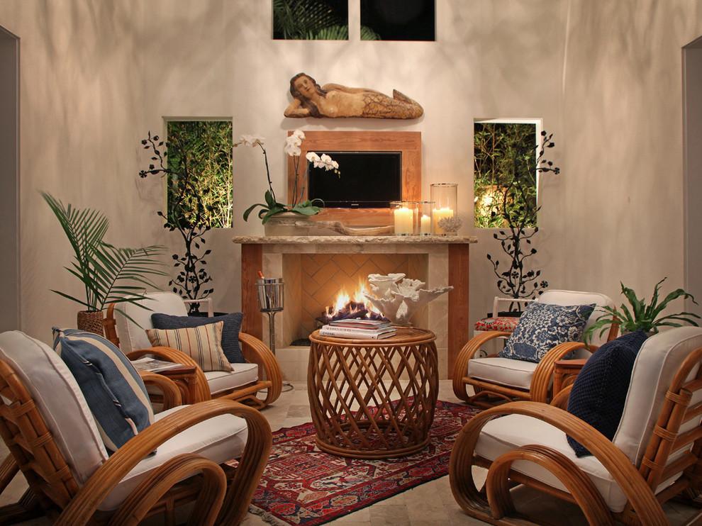 Coastal Cottage Outdoor Living - Tropical - Living Room ... on Tropical Outdoor Living id=74588