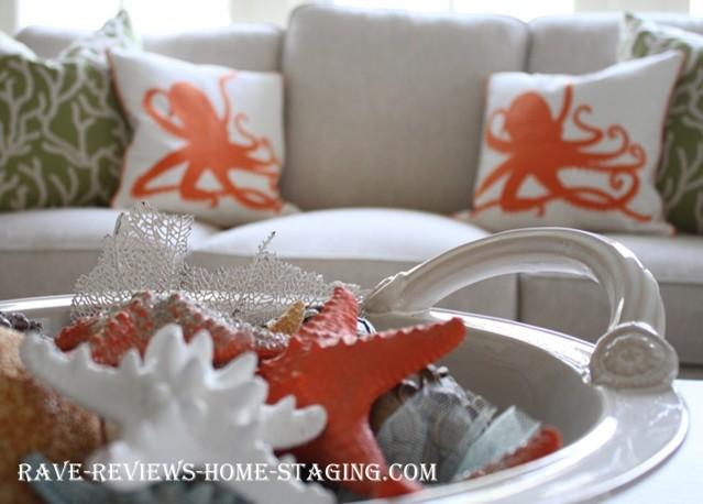 Coastal Design Home Staging Vignettes Traditional