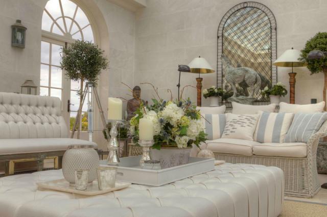 Coastal Elegance Farmhouse Living Room Channel Islands By Skyway Interiors Ltd