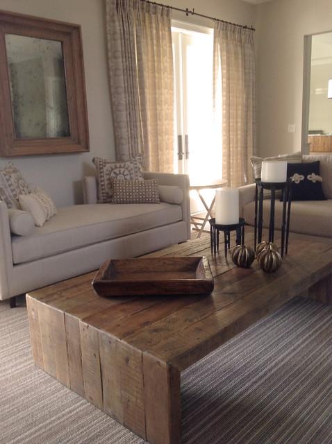 Coastal Florida Home beach-style-living-room