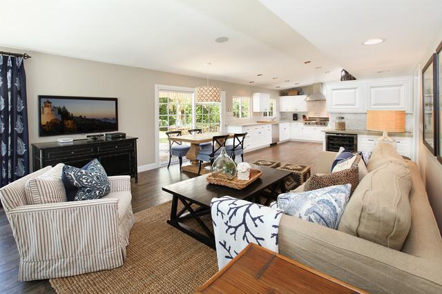 Coastal home renovation beach style living room for Coastal home interior designs