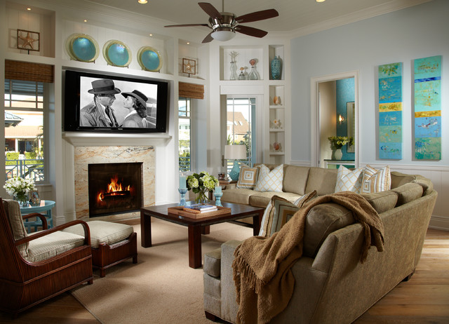 coastal living room design. Coastal Living  Davis Island Interior Design tropical living room Tropical