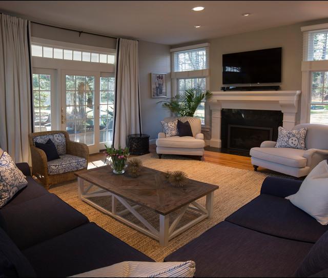 Coastal Living Transitional Living Room Other Metro By Lauren Grant Design