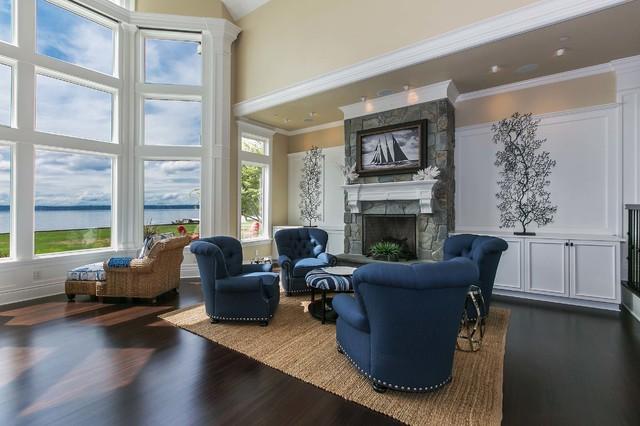 Coastal Living on Fox Island traditional-living-room