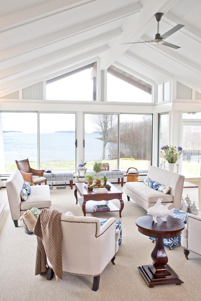 Coastal Living Room - Beach Style - Living Room - Portland ...