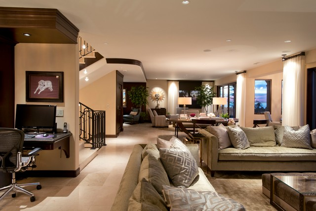 Coastal Luxury Transitional Living Room San Diego