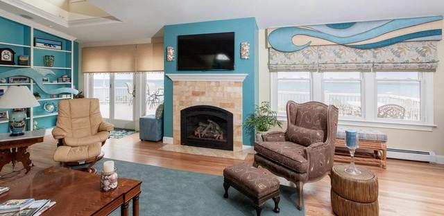 Coastal Rhode Island Retreats Beach Style Living Room Providence By S