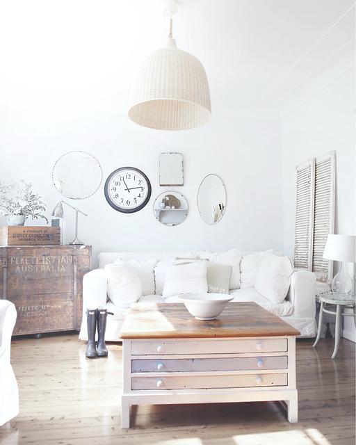 Coastal Sitting Room shabby-chic-style-living-room