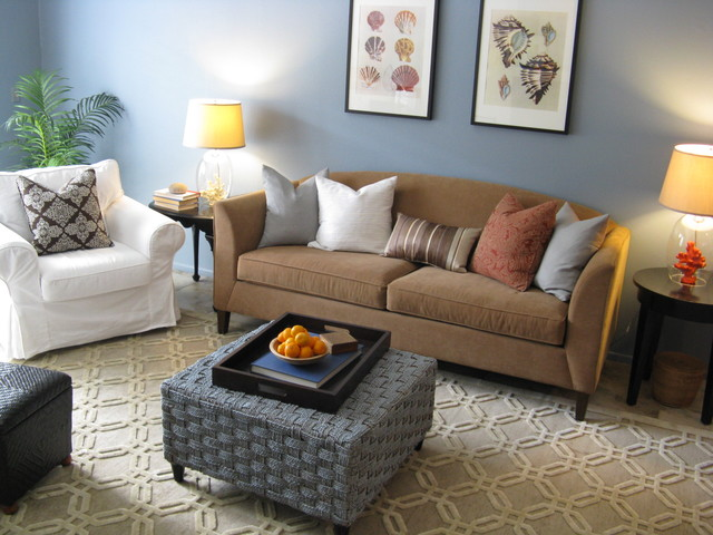 Coastal Style Living Room Eclectic Living Room Los