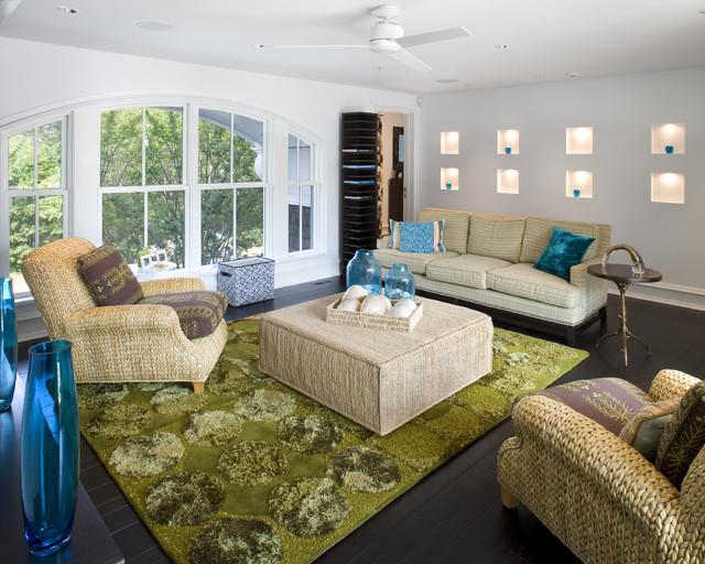 Coastal Vacation Home contemporary-living-room