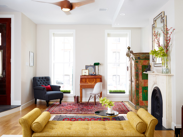 Cobble Hill Brooklyn Brownstone - Transitional - Living ...