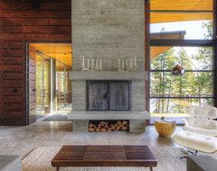 Coeur D'Alene Residence on Lake Coeur D'Alene modern-living-room