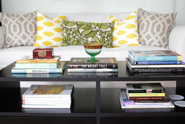 Coffee Table Books Eclectic Living Room Houston by The