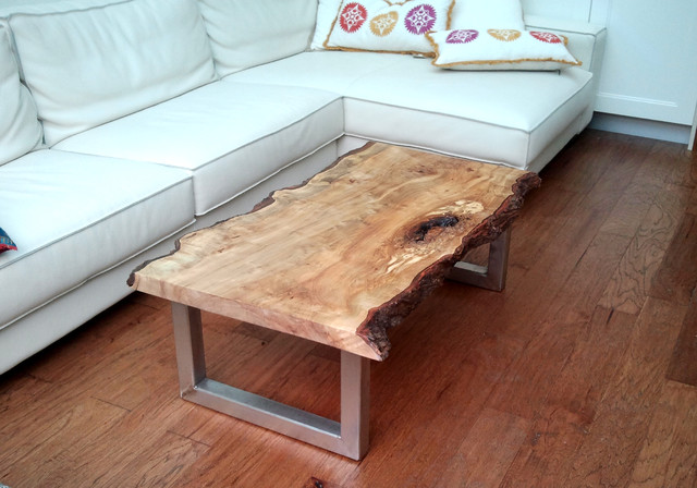 COFFEE TABLES Silver Maple Rustic Living Room
