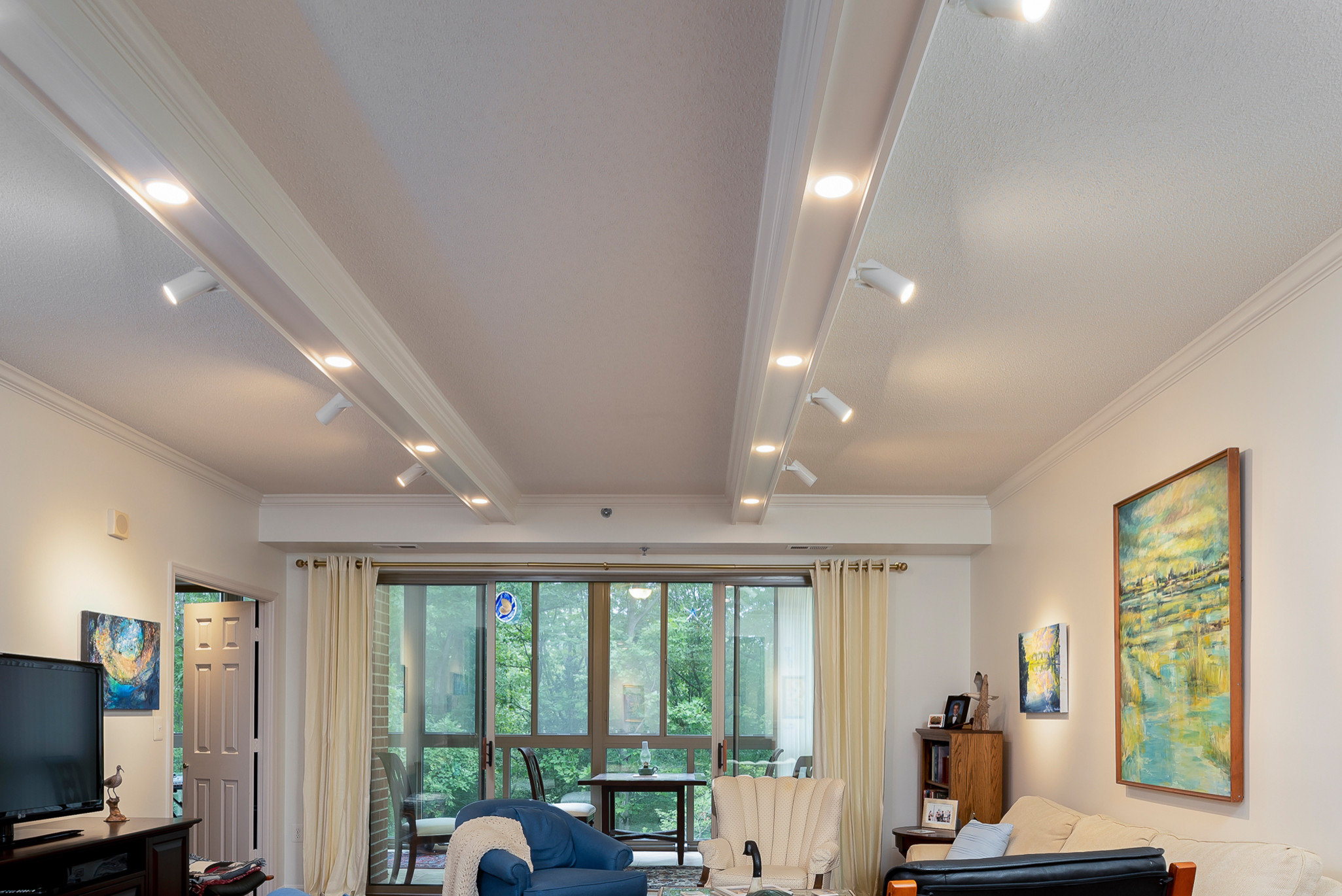Coffered Ceiling Lighting Project