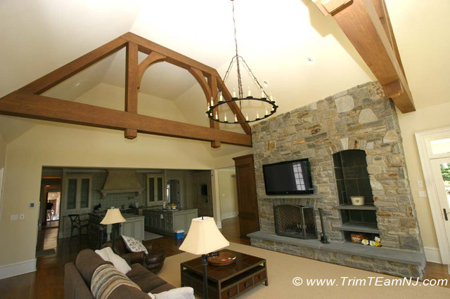 Coffered Ceilings and Beams traditional-living-room