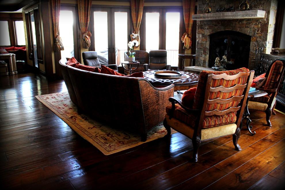 Elegant living room photo in Salt Lake City