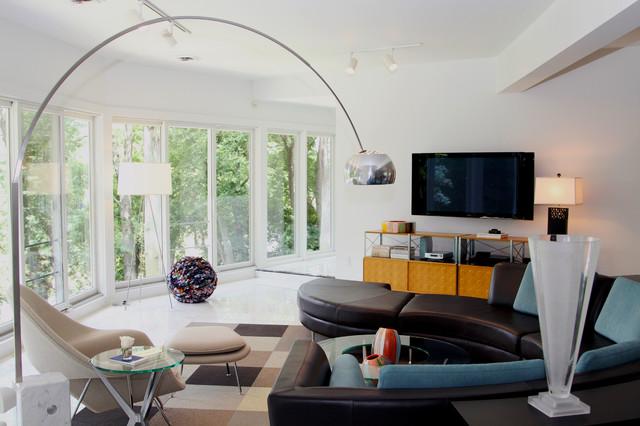 Cohen Home contemporary-living-room