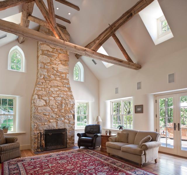 Houzz Farmhouse Living Room: Cold Springs Farm
