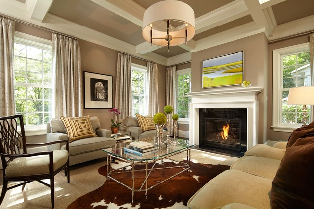 Colonial Farmhouse Traditional Living Room