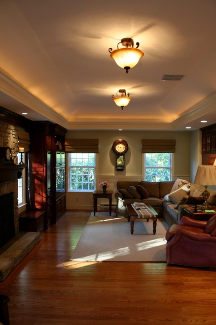 Colonial Home Interior Renovation traditional-living-room