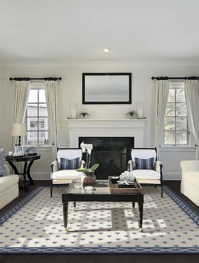 Colony Rug Company's Custom Wilton Stars traditional-living-room
