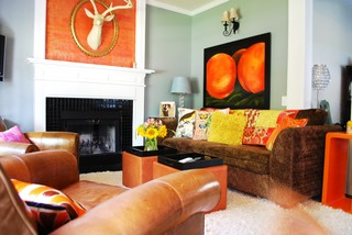 Color 101 eclectic living room
