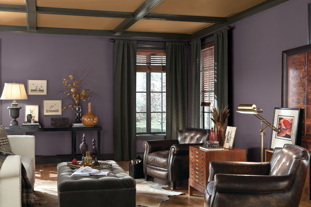 Color of the Year 2014 - Den - Traditional - Living Room - Columbus ...