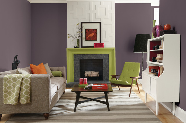 Color of the year 2014 living room transitional - Living room paint colors for 2014 ...