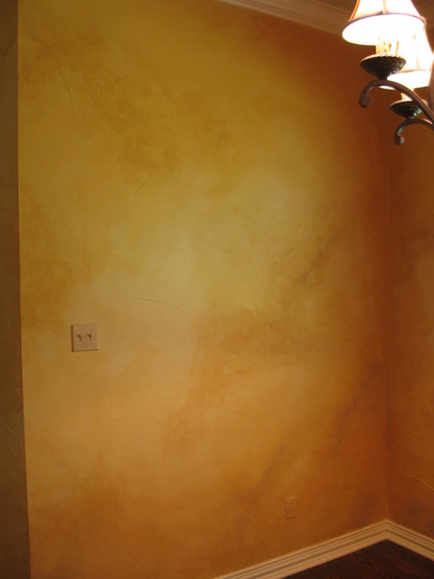 Color Wash Walls Eclectic Living Room Other Metro