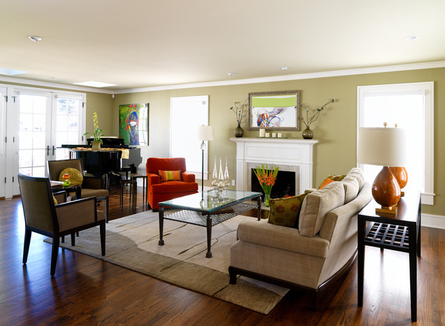 Color your world contemporary living room denver by high country kitchens - Kitchen living room color schemes ...