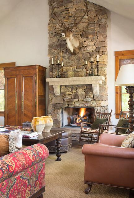 Colorado Casual Traditional Living Room Denver By