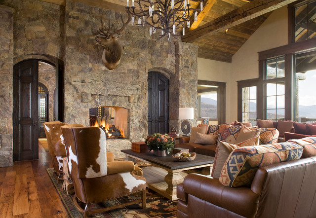 Colorado Ranch Home Rustic Living Room Denver By