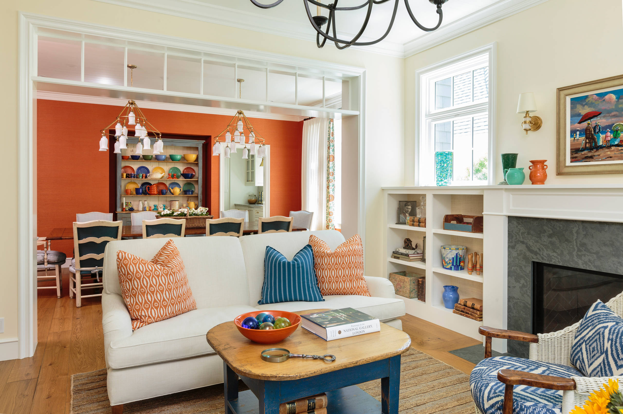 75 Beautiful Living Room With Orange Walls Pictures Ideas January 2021 Houzz