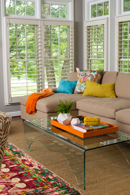 Colorful Family Home transitional-living-room