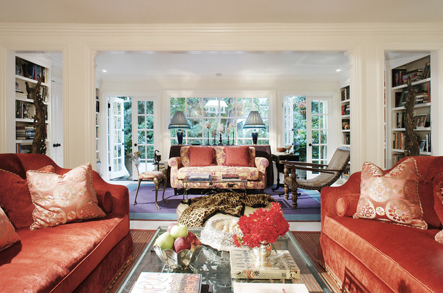 Colorful Hollywood Bungalow Eclectic Living Room Los