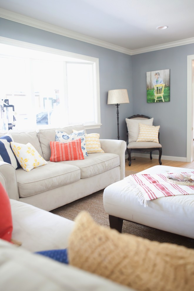 Colorful Living Room Traditional Living Room San Francisco By Found Design