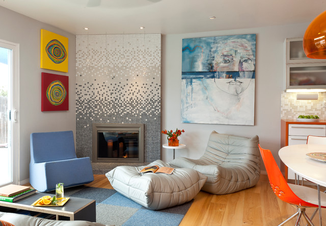 Colorful Mid Century Modern Residence Midcentury Living Room San Francisco By Kropat