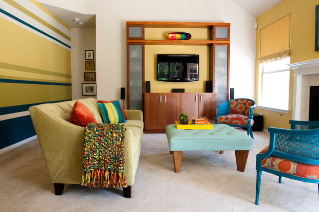 colorful modern living room contemporary living room austin by