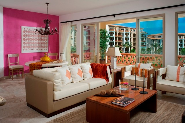 COLORFUL MODERN MEXICAN eclectic-living-room