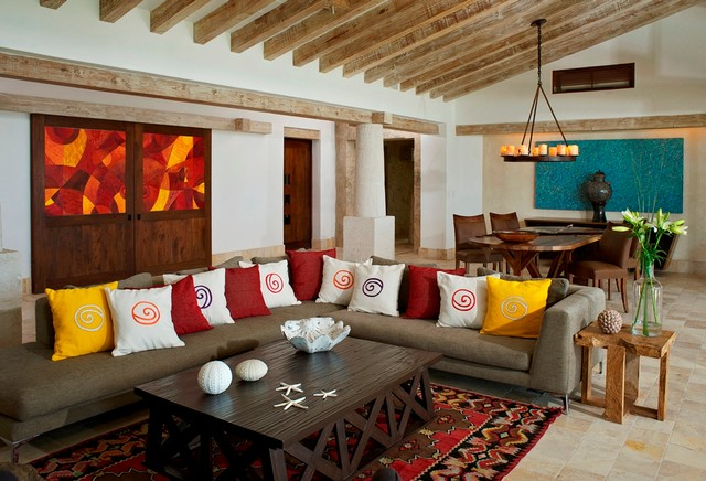 Colorful Modern Mexican Eclectic Living Room Other Houzz Uk