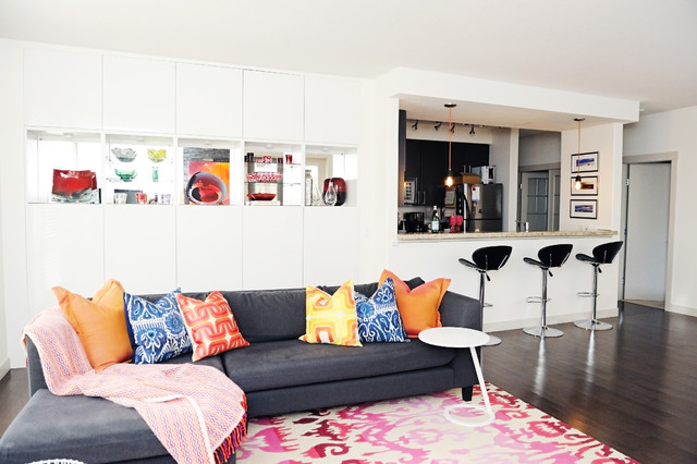 Colourful Modern Eclectic Great Room eclectic-living-room