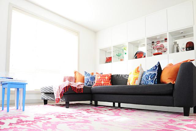outstanding modern eclectic living room | Colourful Modern Eclectic Great Room - Eclectic - Living ...
