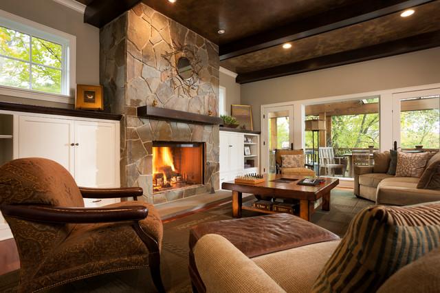 Comfortable cottage style classique salon for Salon cottage