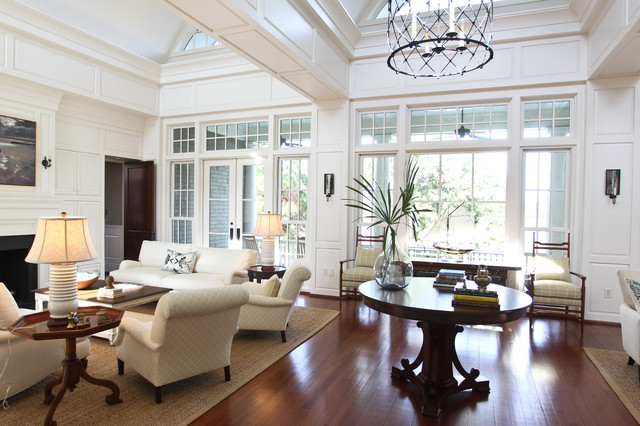 Comfortable luxury eclectic living room charleston for Charleston style and design